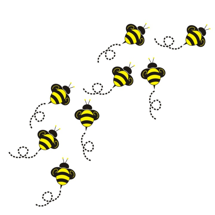 Flying Bumble Bee Clipart #1