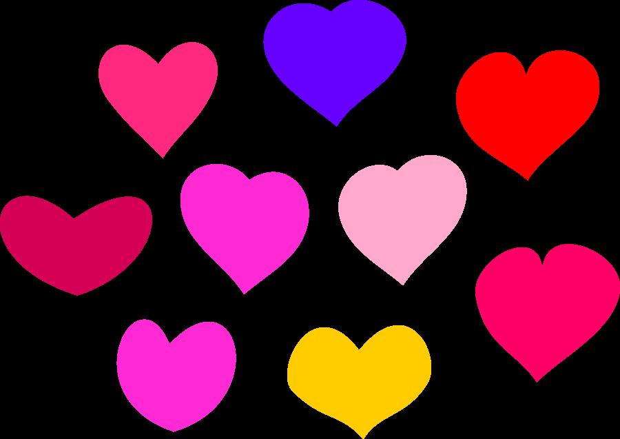 Bundle of Hearts SVG Vector file, vector clip art svg file .