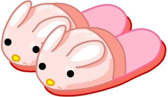 Bunny Slippers Clip Art