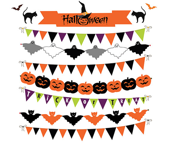 Bunting Banner Clipart, .