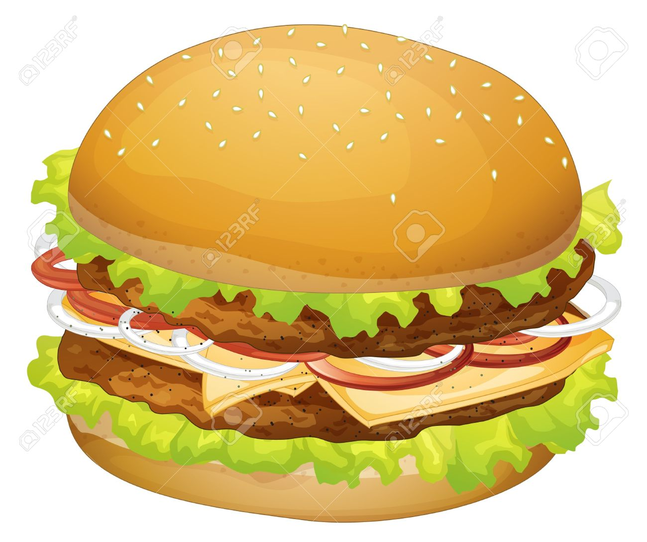 ... Burger Clip Art ...