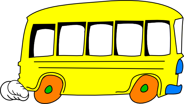 Bus clip art black and white free clipart images