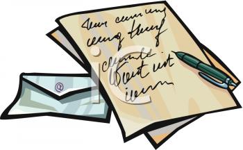 Business Letter Clipart