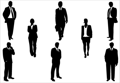 Business People Silhouette .