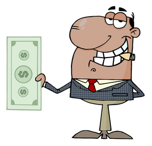 Business Clipart Image: Money Making Businessman