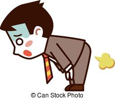 ... Businessman farts - Vector illustration.