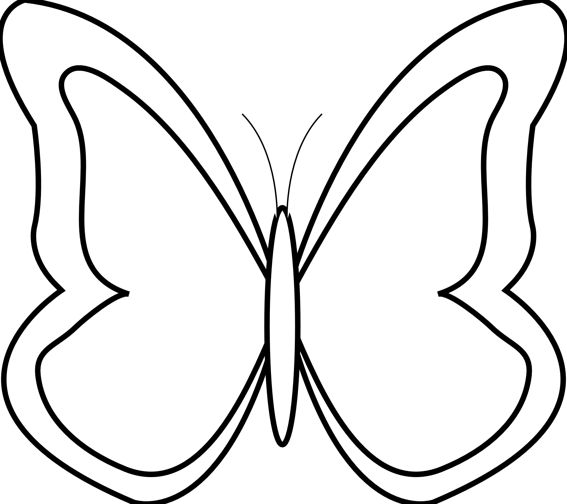 Butterfly Clip Art Black And White Id Buzzerg