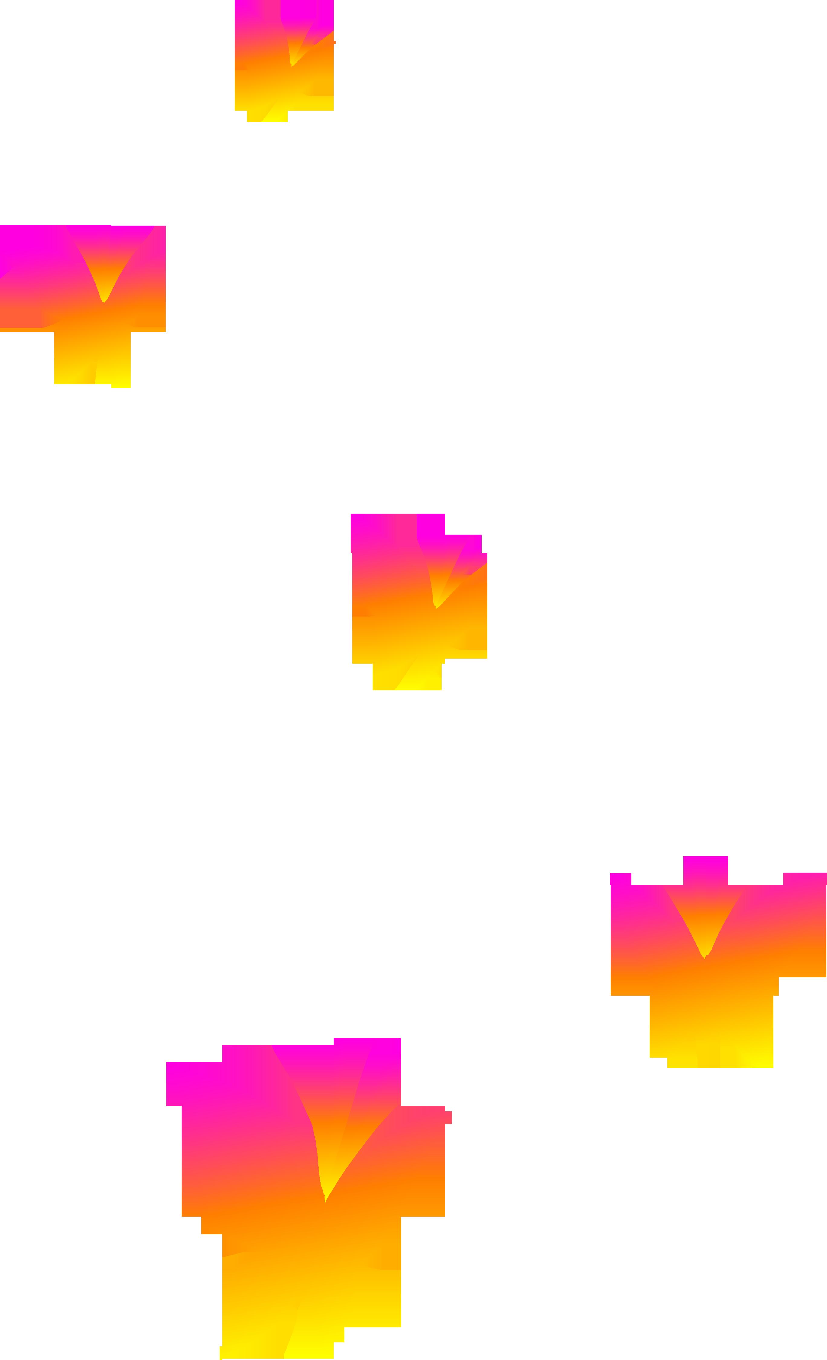 butterfly clip art | Pink Orange and Yellow Butterflies - Free Clip Art