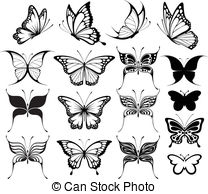 butterfly clipart - set of butterflies silhouettes isolated. hdclipartall.com hdclipartall.com