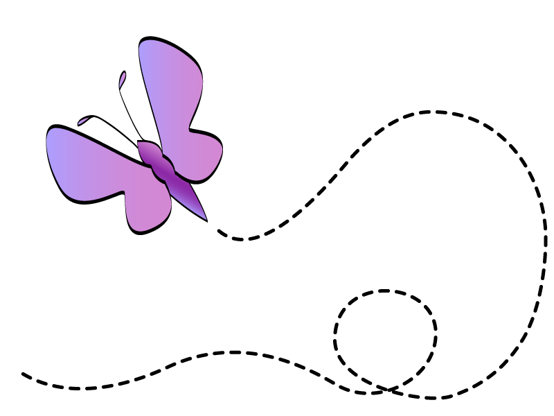 butterfly clipart flying