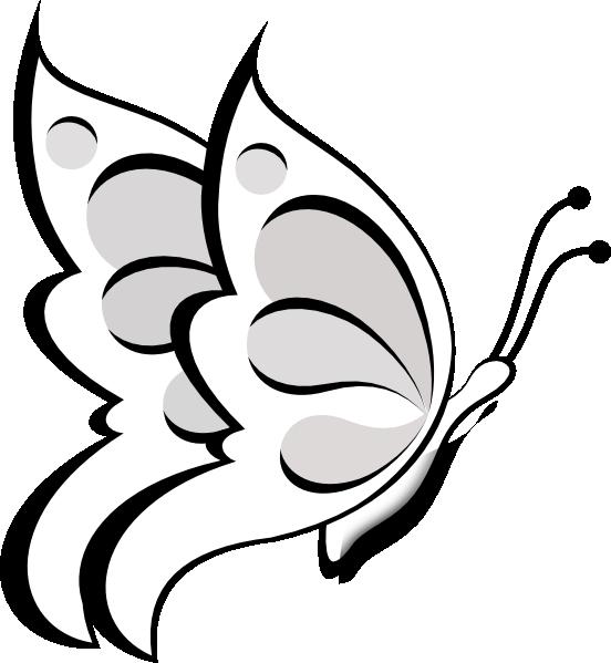 Butterfly Outline Clip Art | Blank Butterfly Clip Art at Clker clipartall.com - vector clip art online ... | BUTTERFLIES | Pinterest | Clip art, Art and Flower