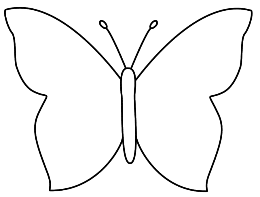 Butterfly Outline Template Clipart