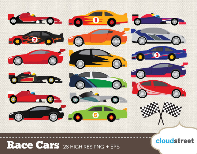 buy 2 get 1 free Race Cars clip art for personal and commercial use ( nascar rally f1 racing cars clipart ) - racing car vector graphics