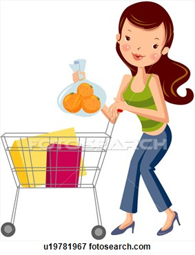 Buy clipart: Clip Art - womankind, buying,