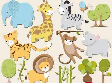 BUY2 GET1 FREE Safari Digital Clip Art