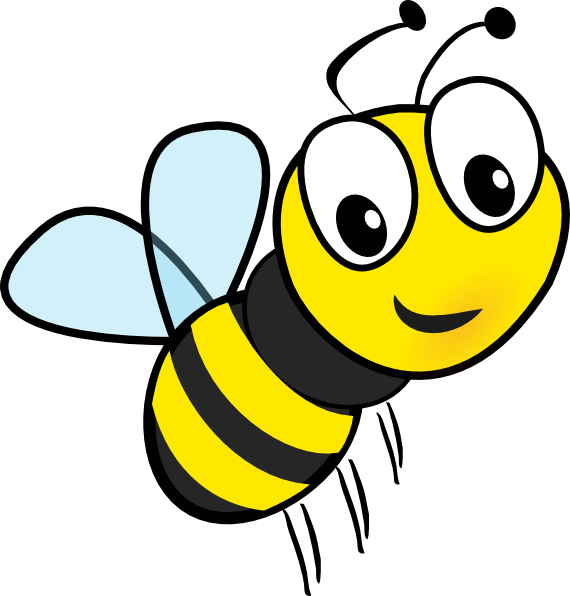 Buzzing bee clipart free clipart images