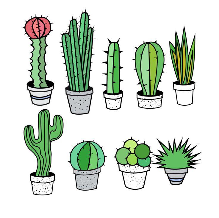 Cactus Clipart, Cactus Clip Art, Tribal Clipart, Tribal Clip Art, Succulent Clipart