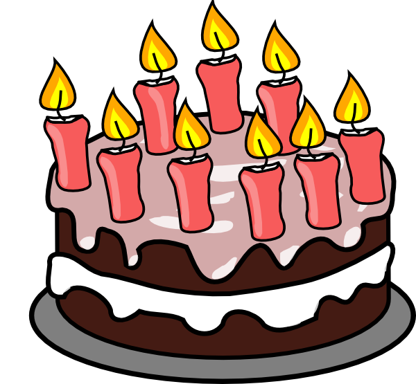 Birthbay Cake Clipart #1