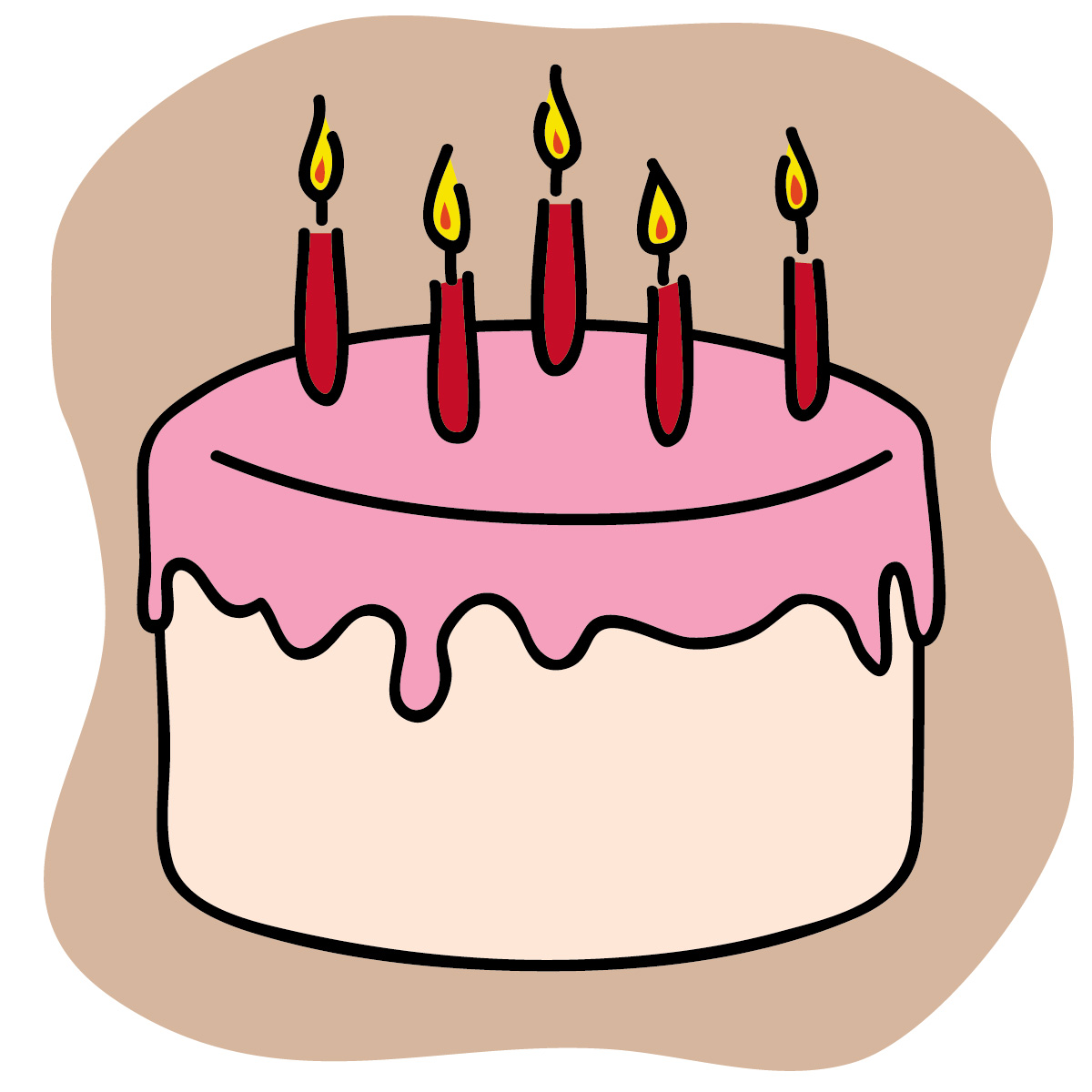 Free birthday cake clip art free clipart images
