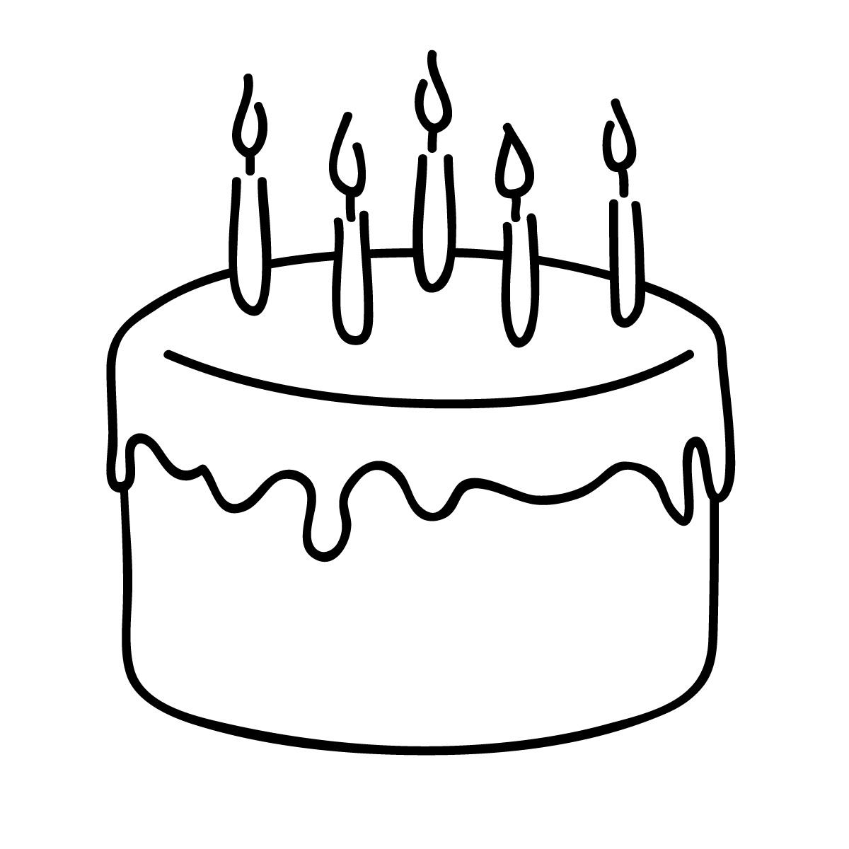 White Birthday Cake Clipart #1