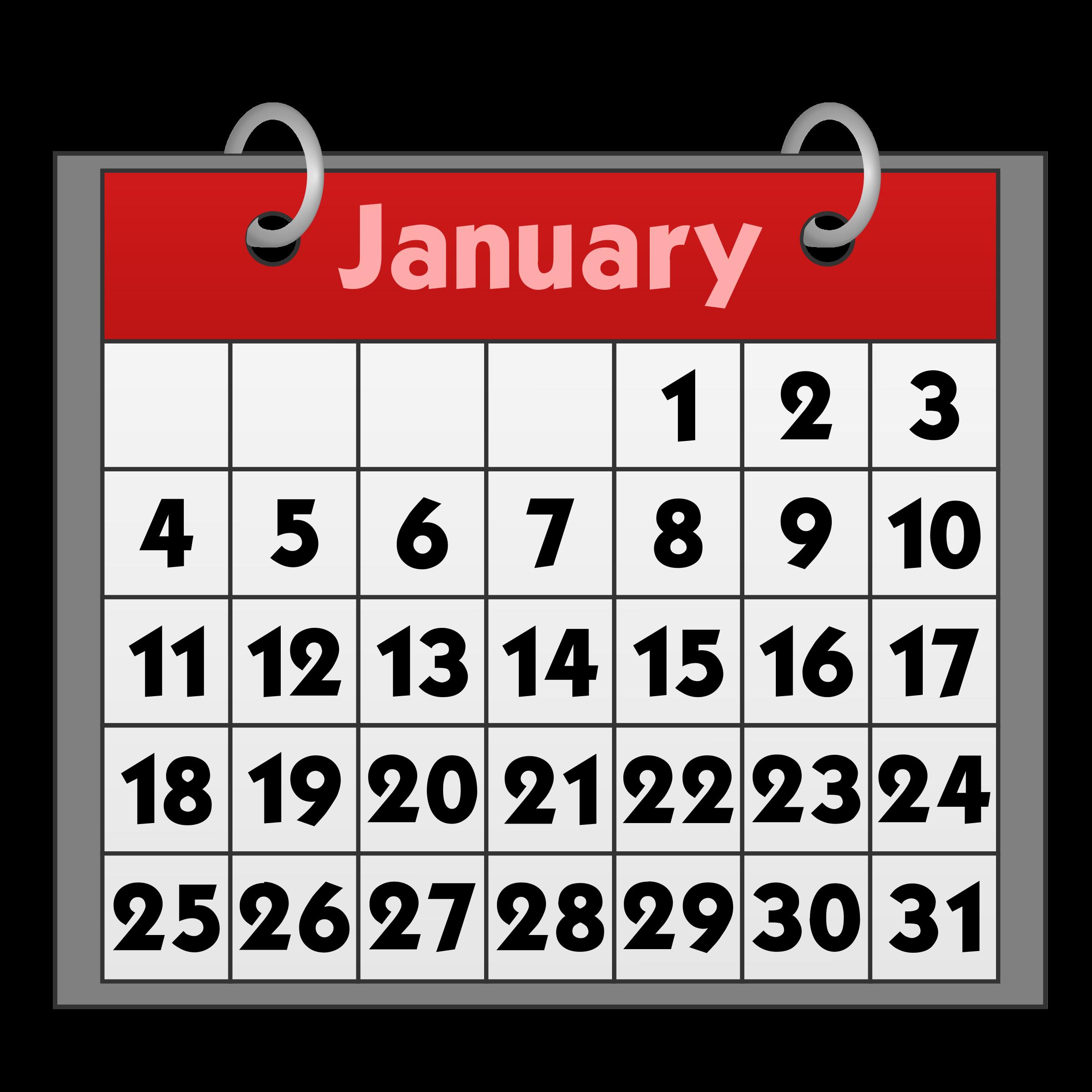Calendar Clipart #23122