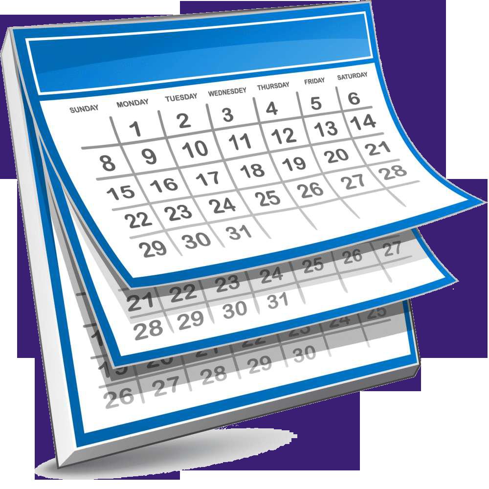 Calendar clipart clipart .