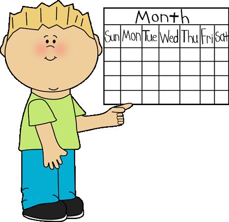 clipart calendar school kid c - Calendar Clipart