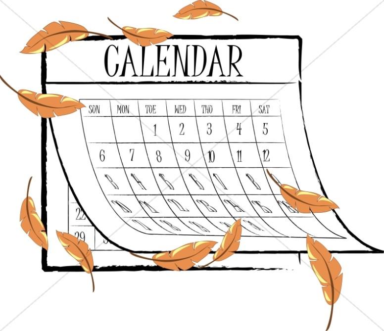 Fall Leaves Calendar - Calendar Clipart