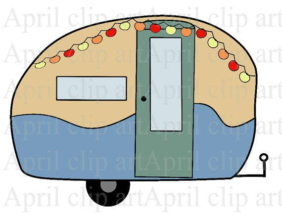 Camper Travel Trailer 1 Digital Clip Art Digital Clipart