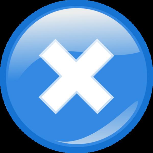 Cancel Button PNG Transparent Picture