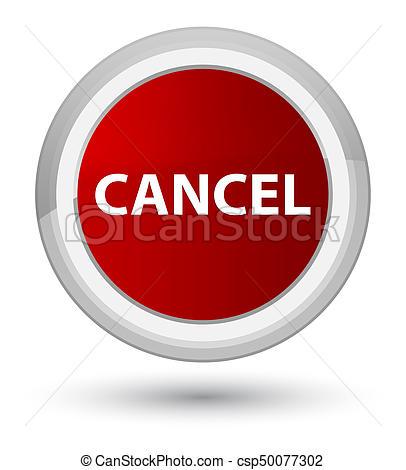 Cancel prime red round button - csp50077302