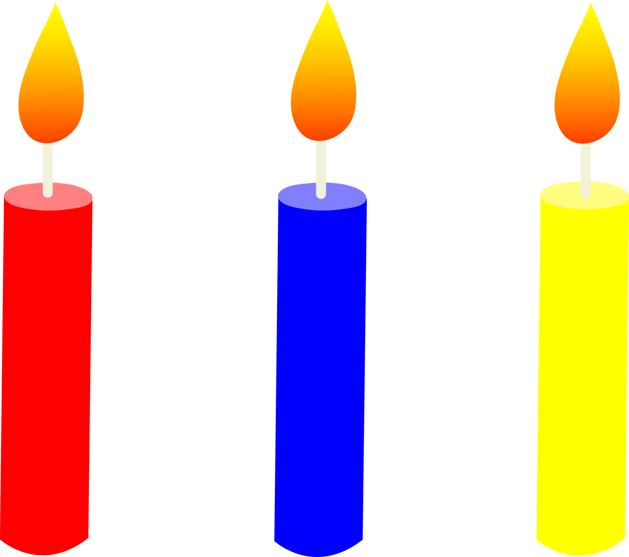 Birthday candle clipart black - Candles Clipart