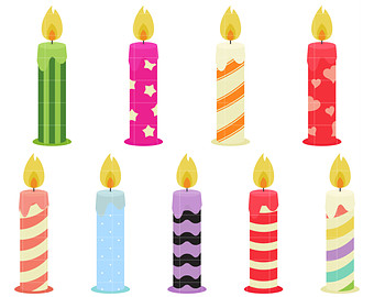 Free clipart birthday candles - Candles Clipart