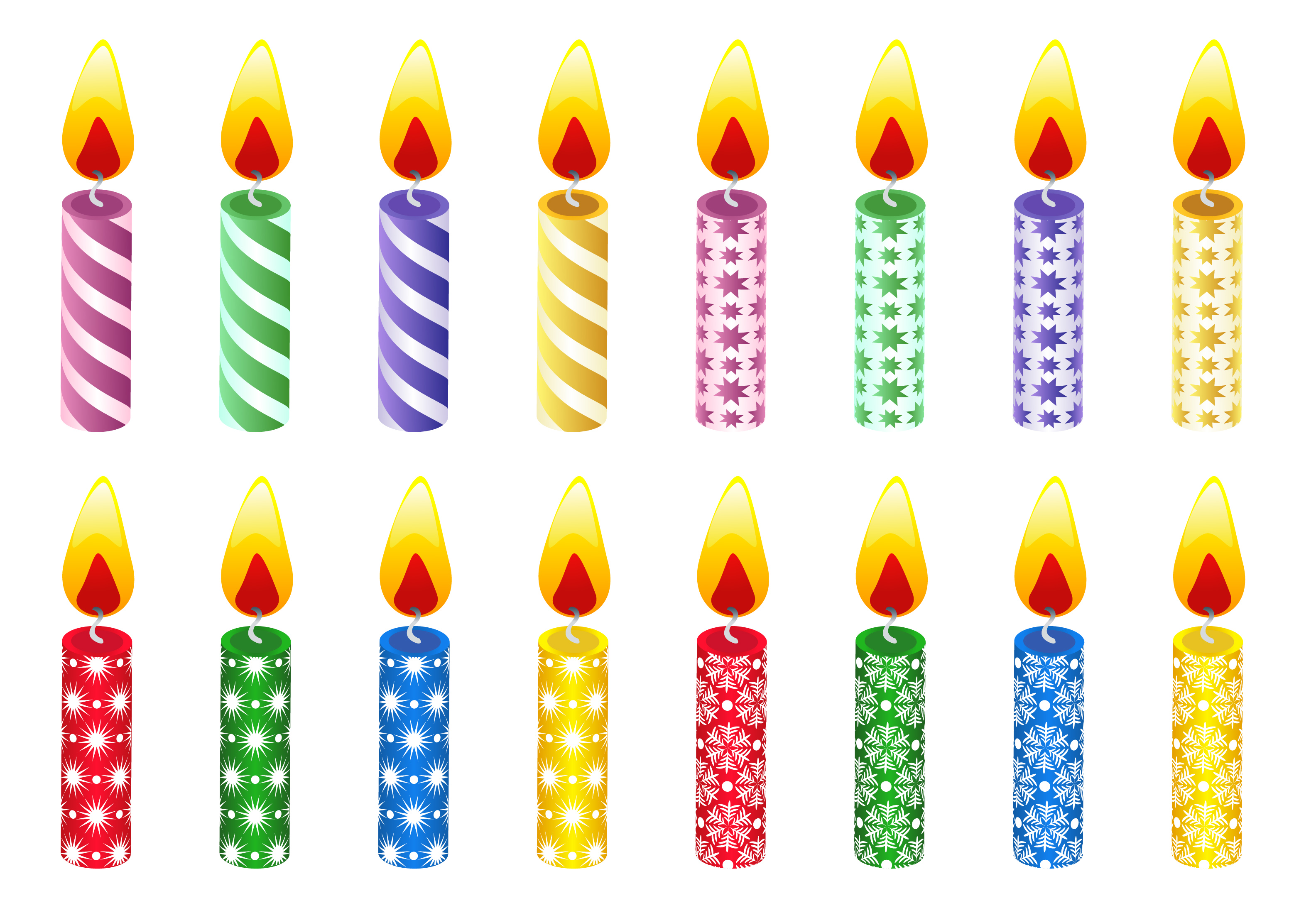 Birthday candle clipart black