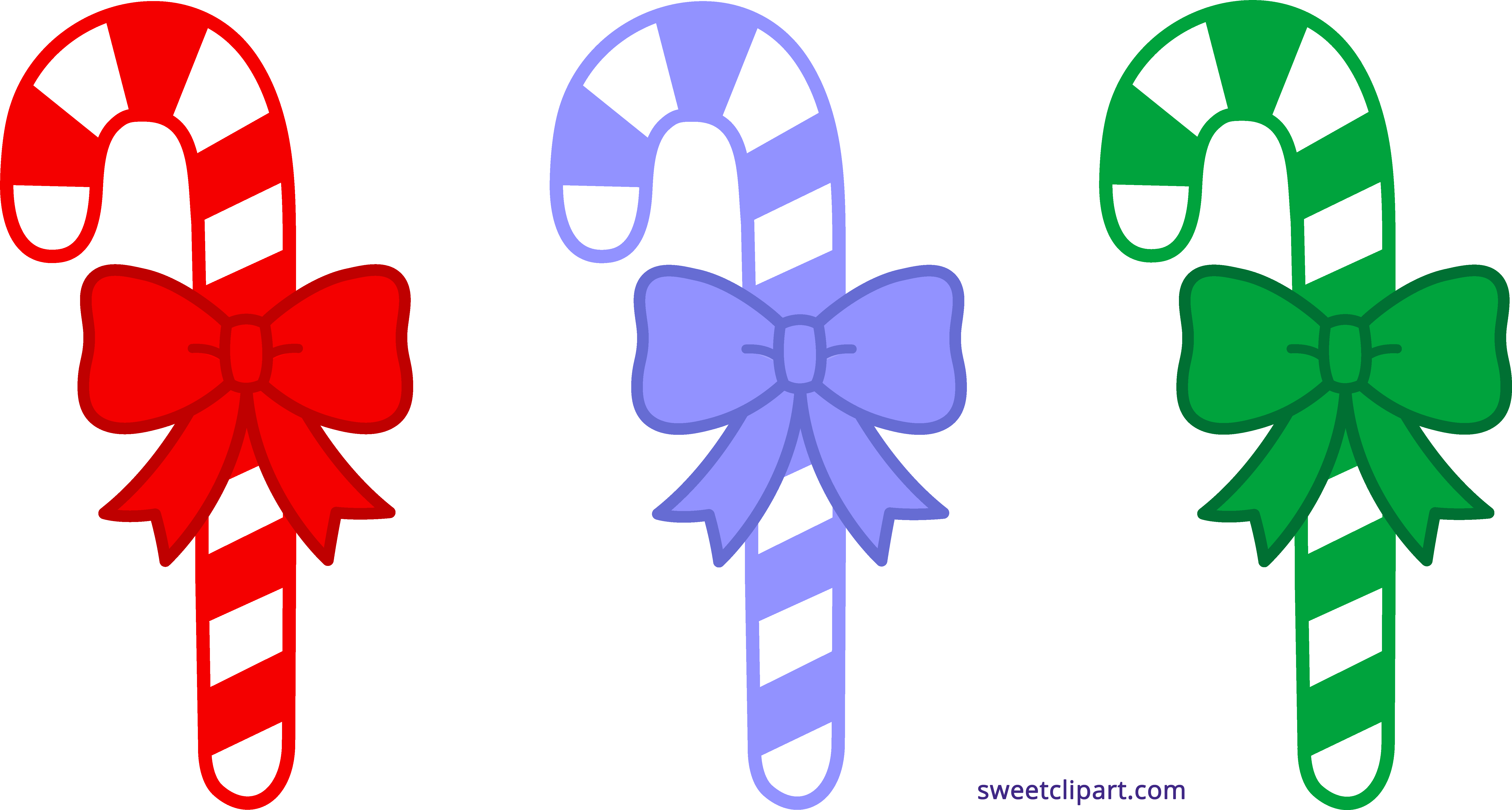 Three Christmas Candy Canes Clipart