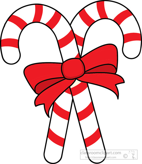 candy cane red bow clipart. two candy canes red ribbon