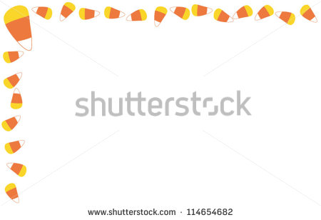 candy corn border pattern