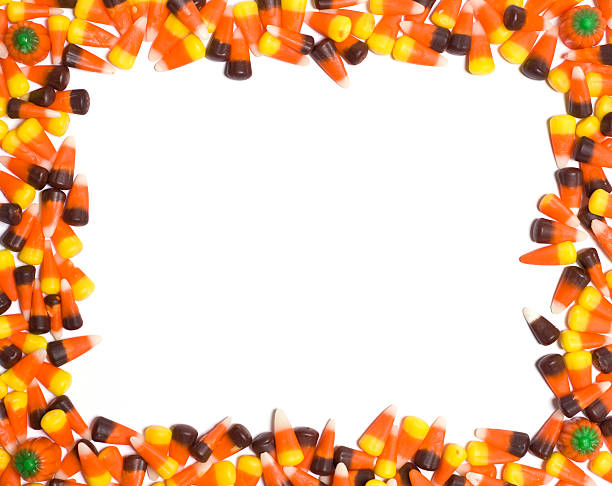 candy corn border stock photo