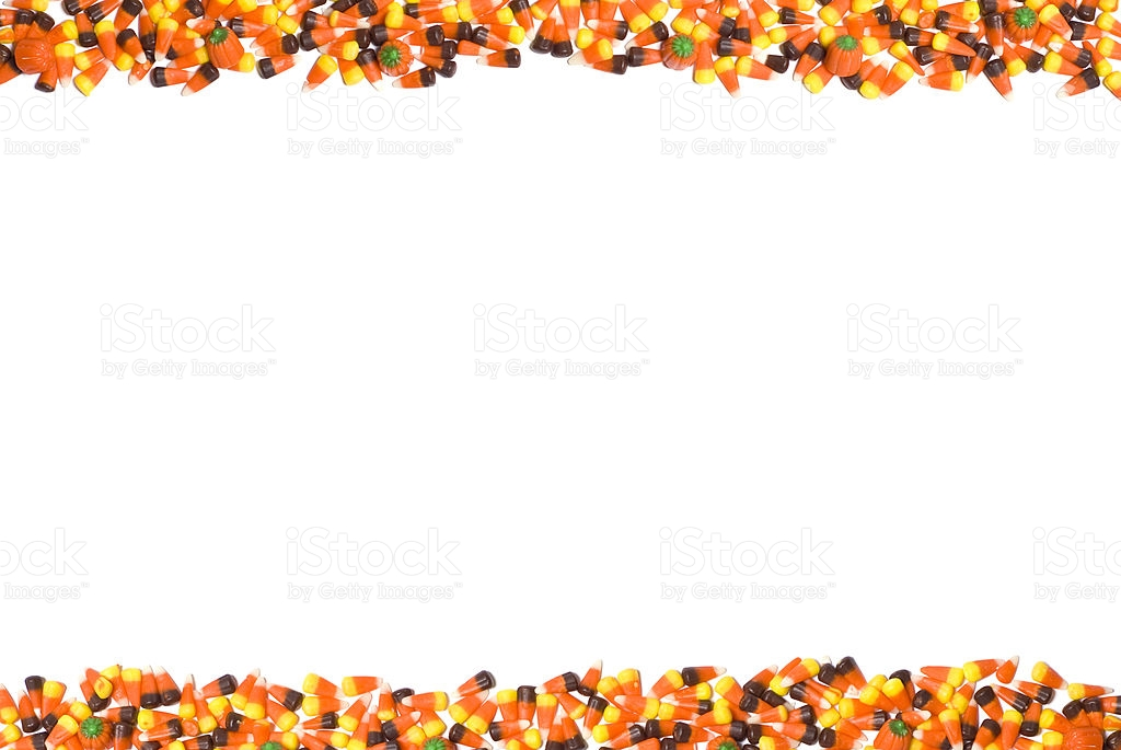 candy corn border w/ pumpkins royalty-free stock photo