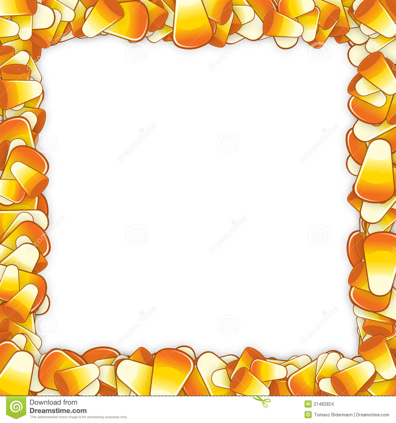 Candy corn frame stock illustration. Illustration of background - 21482824