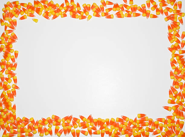 Royalty Free Background Of Halloween Border Candy Corn Pictures