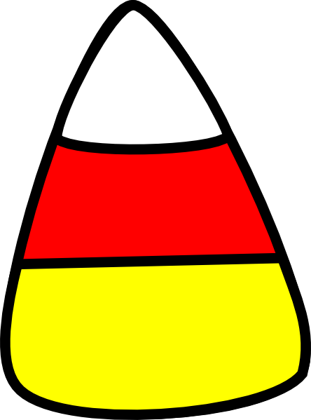 Candy Corn Clip Art Black And White Candy Corn Clipart Png