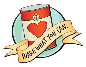 Can clipart food donation #7
