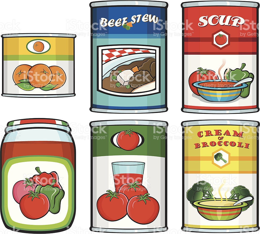 Vector canned food clipart