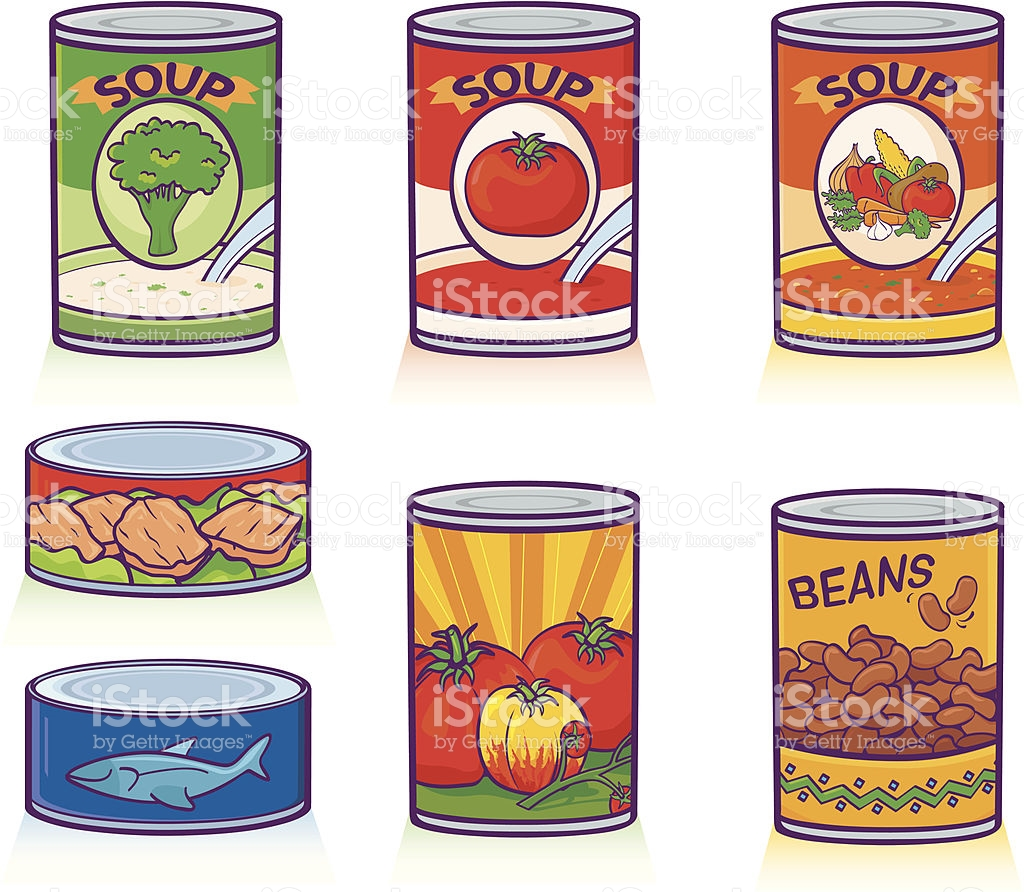 Canned Goods vector art .