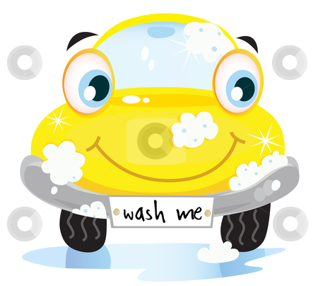 car wash clipart black and white