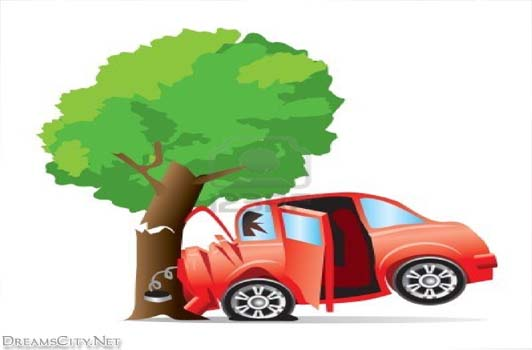 Car accident tree clipart - .