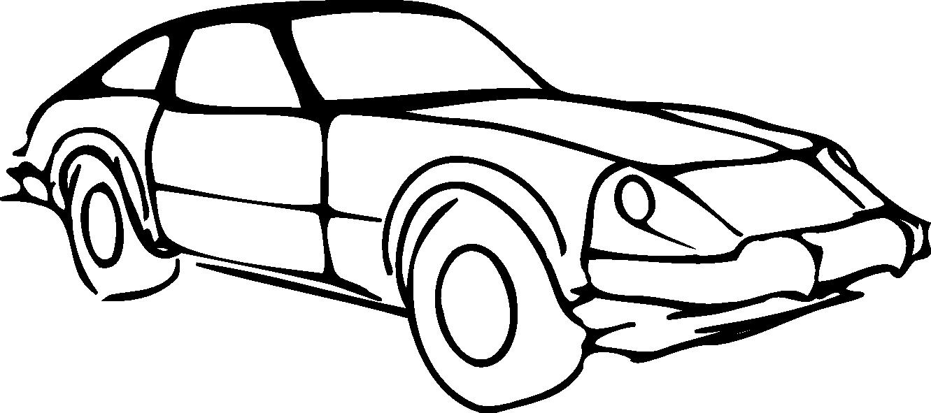 Car Clipart Black And White Car Outline Modified Black White Line Art