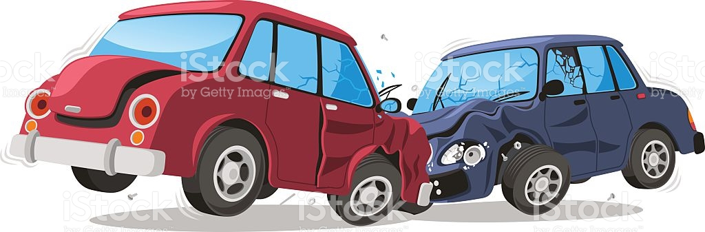 Car Crash Vehicle Collision royalty-free stock vector art