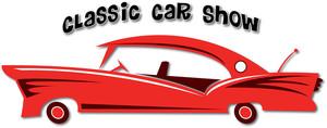 Car Show Clipart Image: Clip Art Illustration of a Classic Car Sign